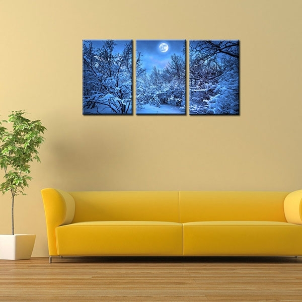 China Wholesale Framed Hd Canvas Art Print Blue Night Wall Art Pertaining To Leadgate Canvas Wall Art (Image 5 of 15)