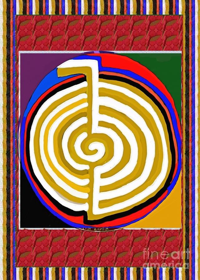 Cho Ku Rei Chokurei Karuna Reiki Healing Symbol Art Buy Posters With Regard To Ku Canvas Wall Art (Image 6 of 15)
