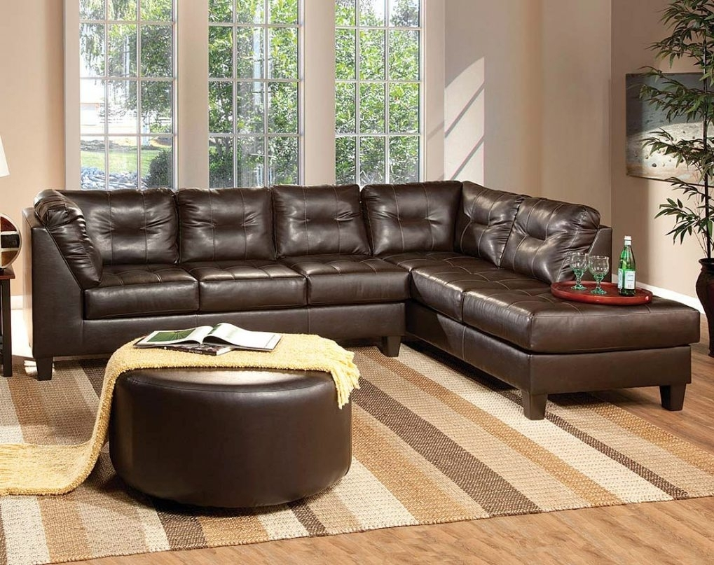 Chocolate Brown Leather Sectional #1 Enchanting Chocolate Brown Pertaining To The Bay Sectional Sofas (Image 1 of 10)