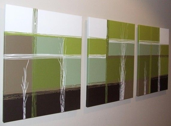 Chocolate Brown, Lime Green And Aqua | Lime Green Chocolate Brown Pertaining To Olive Green Abstract Wall Art (Image 7 of 15)