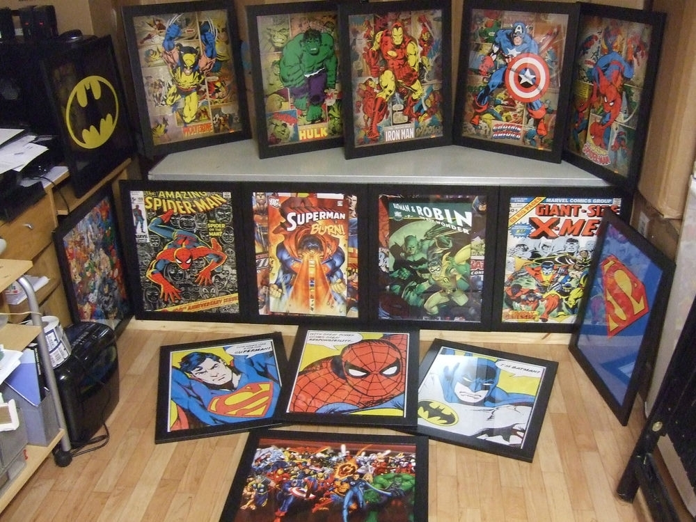 Choice Of Framed Comic Book Superhero Mini Poster Print (Image 3 of 15)