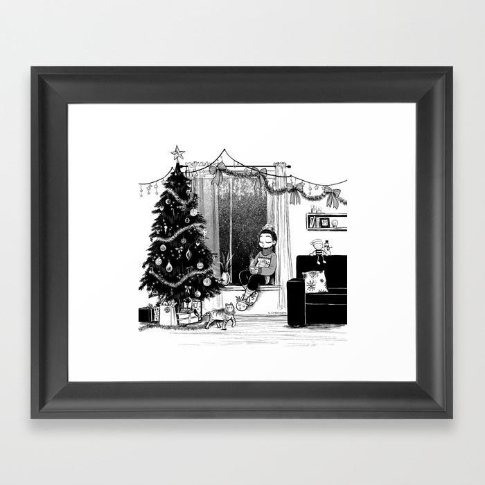 Christmas Framed Art Prints Christmas Framed Art Print Ccassandra In Christmas Framed Art Prints (Image 7 of 15)