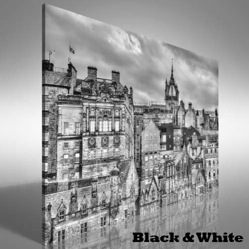 City Centre Of Edinburgh Canvas Print Large Picture Wall Art | Ebay In Edinburgh Canvas Prints Wall Art (View 3 of 15)