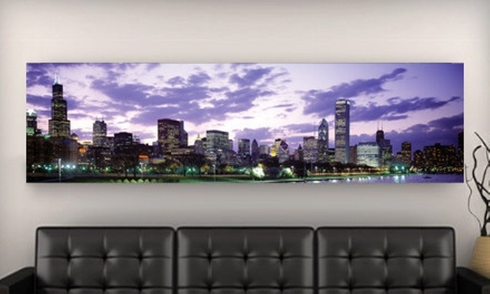 City Skyline Canvas Prints – Imagekind Skyline Gallery Wrapped Intended For Los Angeles Canvas Wall Art (Image 7 of 15)