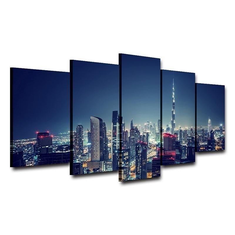 City Wall Art Hom — Http://homewalldeco/products/city Wall Regarding Dubai Canvas Wall Art (Image 8 of 15)