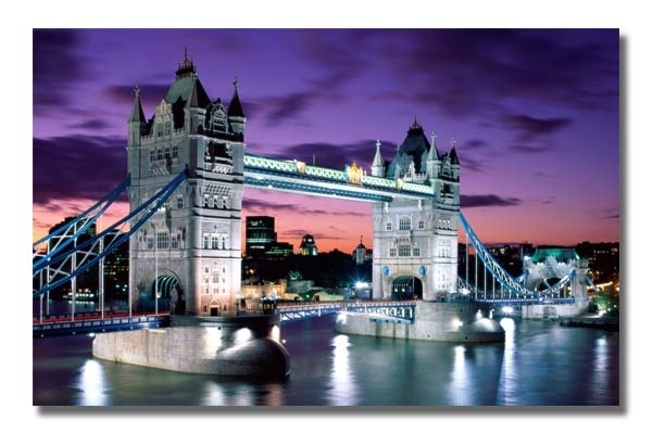 Cityscape Wall Art, World Canvas Art, Landscape Art Paintings For Canvas Wall Art Of London (Image 7 of 15)