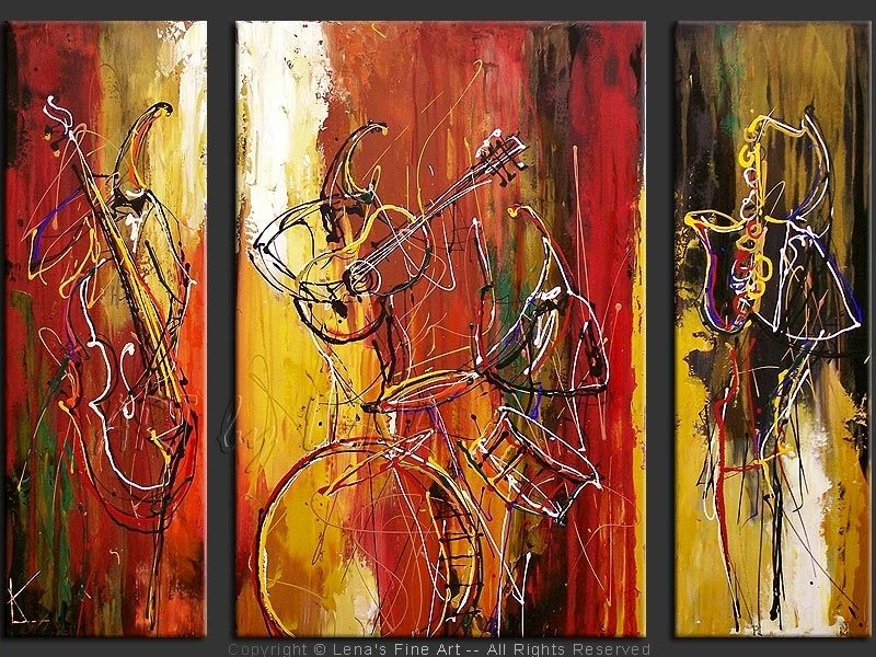 Classic Jazz Band | Classic Jazz, Jazz And Original Paintings Within Abstract Jazz Band Wall Art (View 10 of 15)