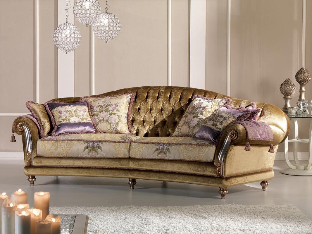 Classic Sofa / Velvet / 2 Seater – Etoile Ring – Pigoli For Classic Sofas (Image 2 of 10)