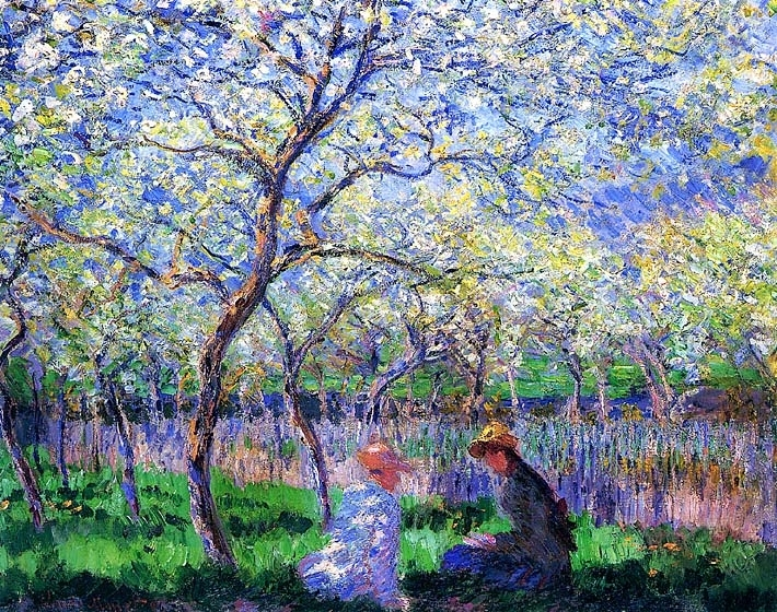 Claude Monet Springtime Canvas Prints And Framed Art At Accents N With Regard To Monet Canvas Wall Art (Image 6 of 15)