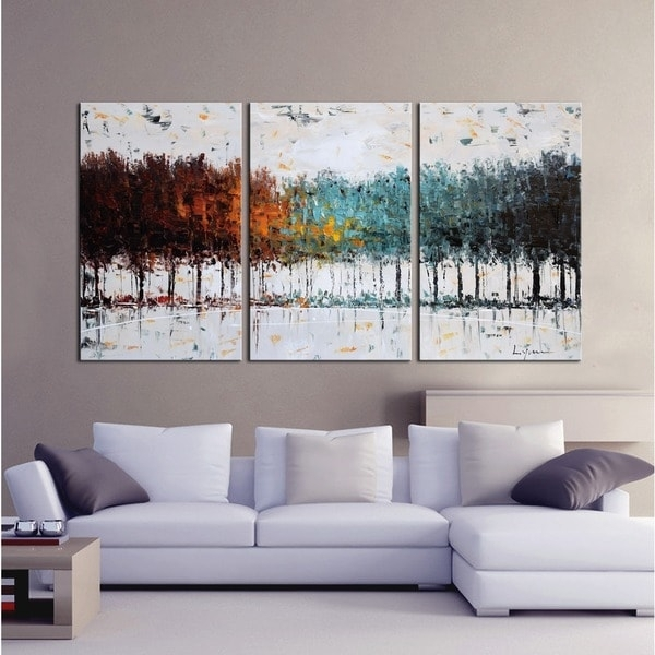 Clay Alder Home The Forest' Hand Painted Gallery Wrapped Canvas Regarding Overstock Abstract Wall Art (Image 4 of 15)