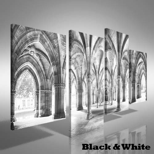 Cloisters Of Glasgow University Offset Canvas Print Large Picture Inside Glasgow Canvas Wall Art (View 14 of 15)