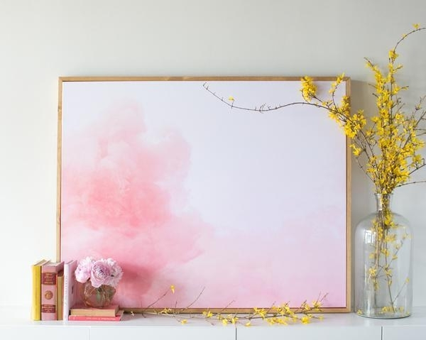 Cloud Canvas For Pink Abstract Wall Art (View 6 of 15)