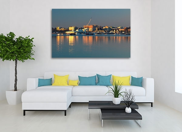 Coastline Geelong Art Print | Buy Colourful Canvas Online Inside Geelong Canvas Wall Art (View 4 of 15)