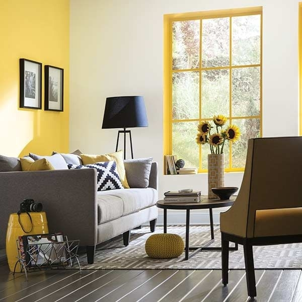Color Of The Month, May 2016: Buttercup | Yellow Accent Walls Regarding Yellow Wall Accents (Image 3 of 10)