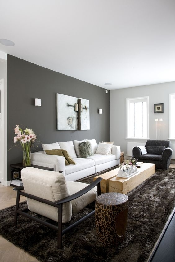Color Passion: 30 Bold Painted Accent Walls – Digsdigs Regarding Wall Accents For Grey Room (View 4 of 15)