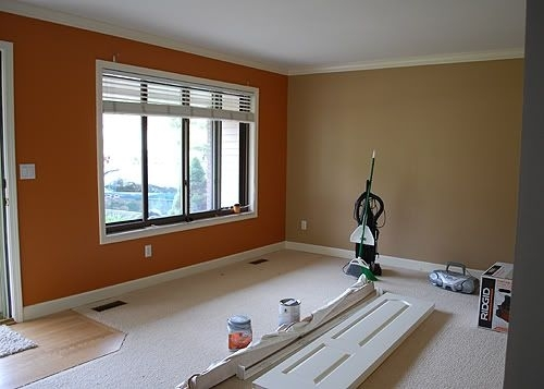 Color Scheme For Upstairs Landing Areaorange Accent Wall Pertaining To Wall Accents For Tan Room (Image 7 of 15)