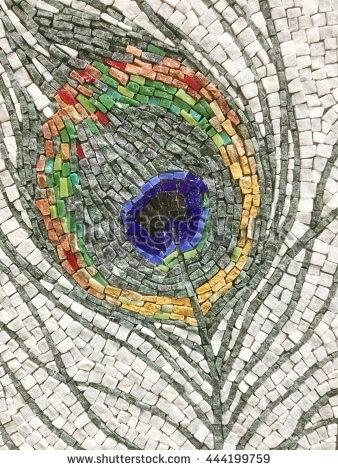 Colorful Stone Mosaic Art Abstract Wall Stock Photo 444199759 Throughout Abstract Mosaic Wall Art (Image 8 of 15)