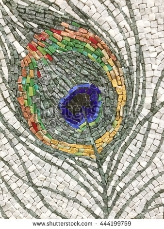 Colorful Stone Mosaic Art Abstract Wall Stock Photo 444199759 With Regard To Abstract Mosaic Art On Wall (Image 5 of 15)