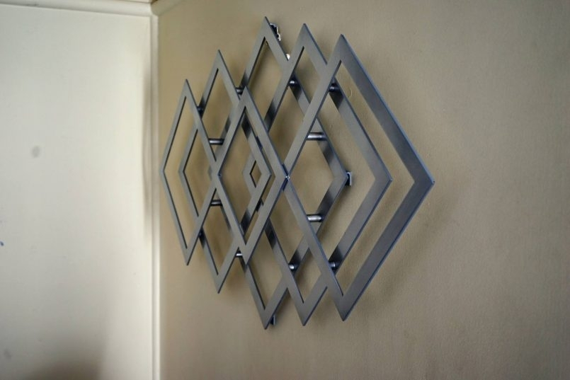Colors : Geometric Modern Metal Abstract Wall Art With Geometric Regarding Abstract Geometric Metal Wall Art (View 12 of 15)
