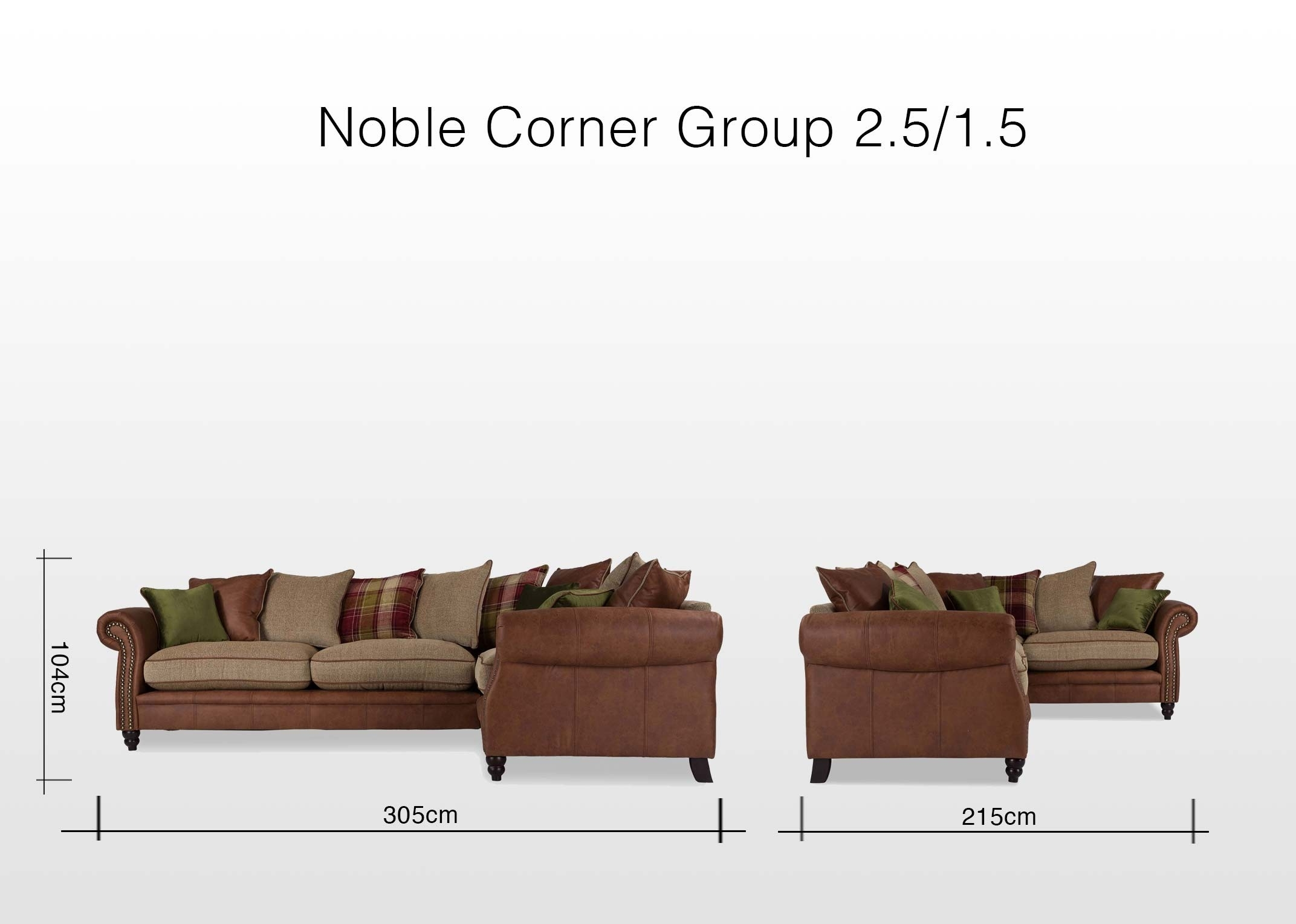 Colourful Pillowback Fabric Corner Sofa – Noble – Ez Living Furniture Pertaining To Fabric Corner Sofas (View 7 of 10)