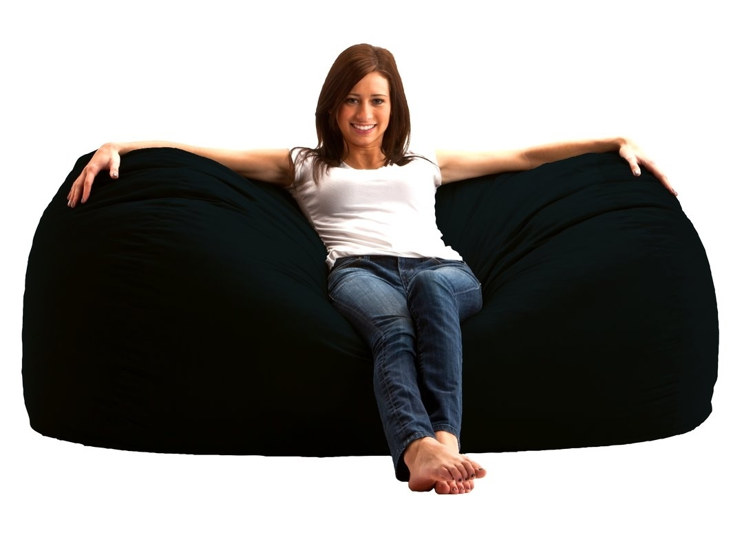 Comfort Research Bean Bag Sofa & Reviews | Wayfair Intended For Bean Bag Sofas (Image 5 of 10)