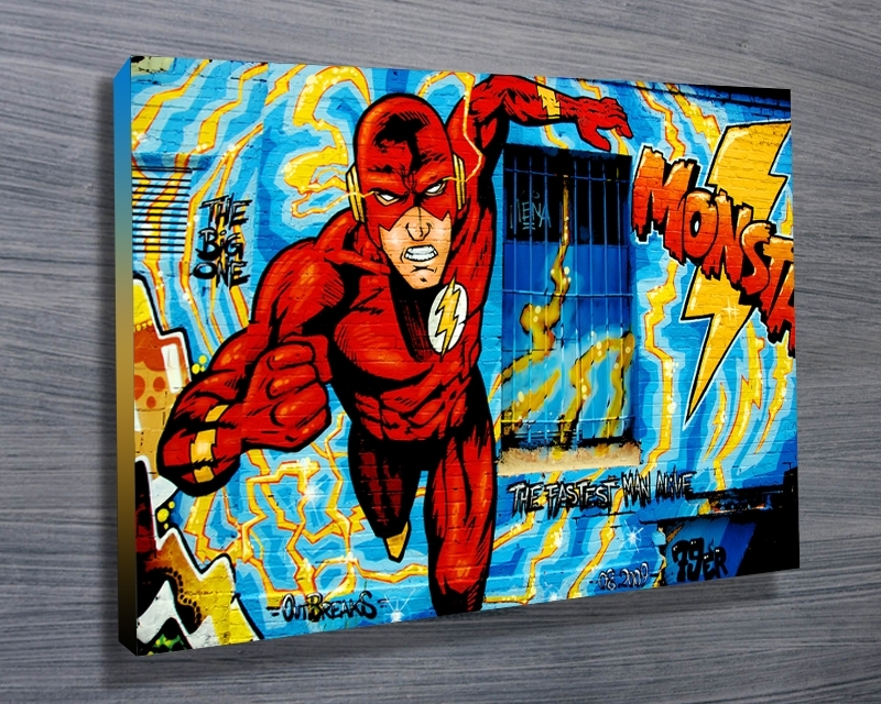 Comic Book Graffiti – Canvas Prints Australia Intended For Graffiti Canvas Wall Art (Image 3 of 15)