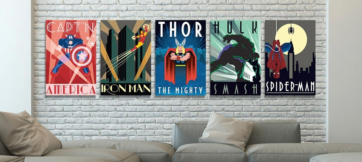 Comic Book Heroes Canvas Wall Art — Icanvas Pertaining To Framed Comic Art Prints (Image 4 of 15)