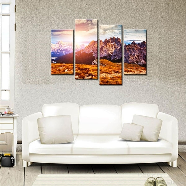Competitive Price For Hd Modern Canvas Prints Mountain Peak Home Intended For Cape Town Canvas Wall Art (View 9 of 15)