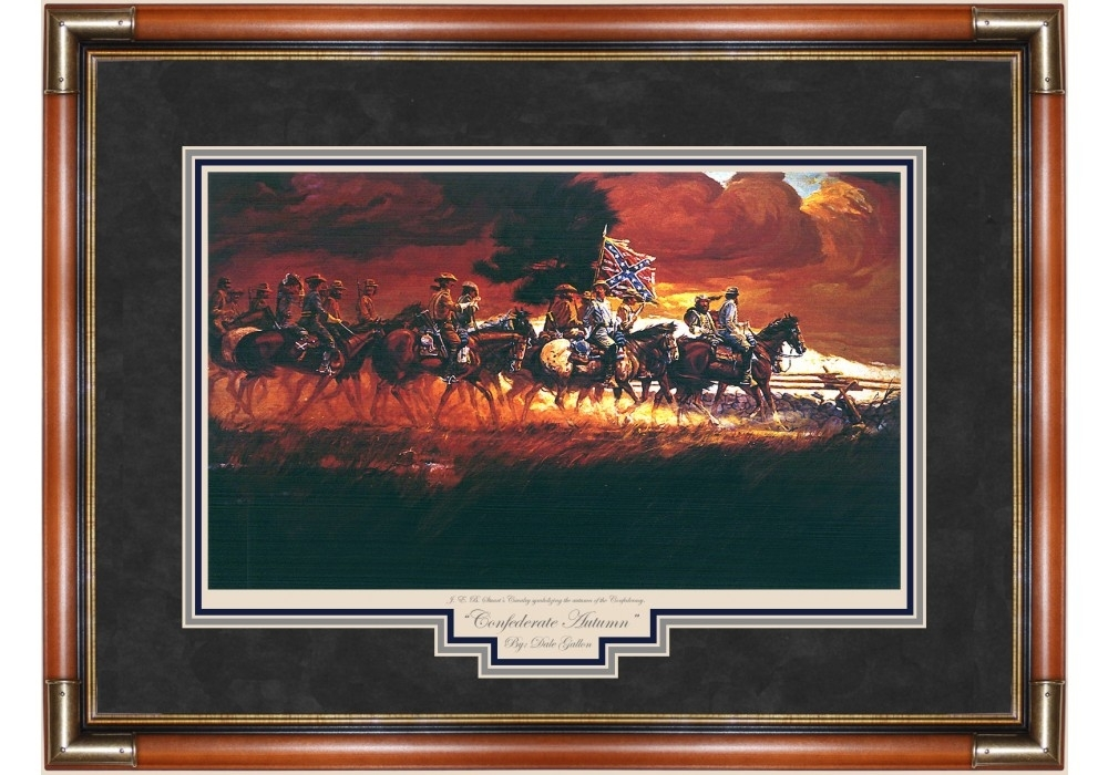 Confederate Autumn Print – Prints – Art Reproductions – Civil War Intended For Confederate Framed Art Prints (View 1 of 15)