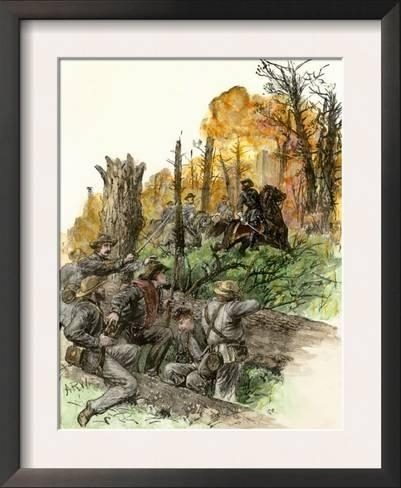 Confederate General Stonewall Jackson Mortally Wounded At The Intended For Confederate Framed Art Prints (View 11 of 15)