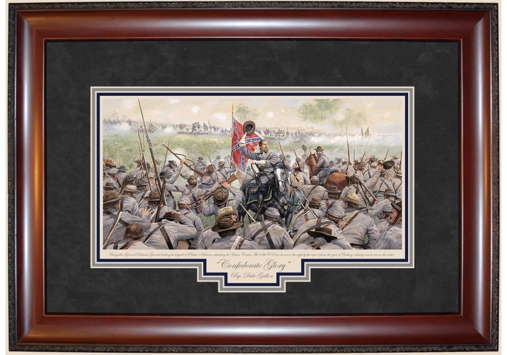 Confederate Glory Print – Prints – Art Reproductions – Civil War Intended For Confederate Framed Art Prints (Image 8 of 15)