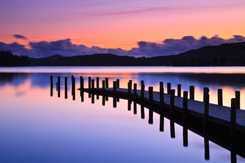 Coniston Jetty In Jetty Canvas Wall Art (Image 2 of 15)