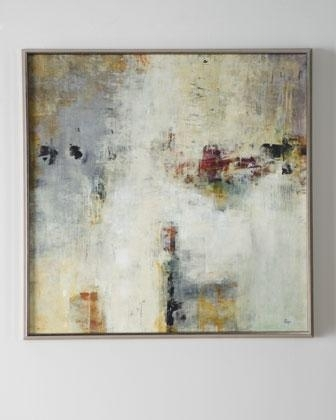 Connectivity' Framed Abstract Art – Neiman Marcus Pertaining To Neutral Abstract Wall Art (View 4 of 15)