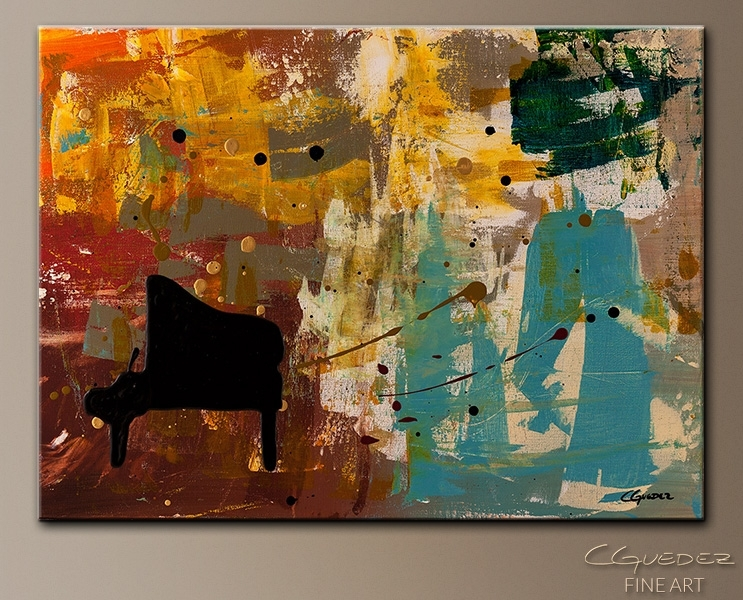 Contemporary Abstract Art Painting – Piano Concerto – Paintings Inside Abstract Piano Wall Art (Image 6 of 15)