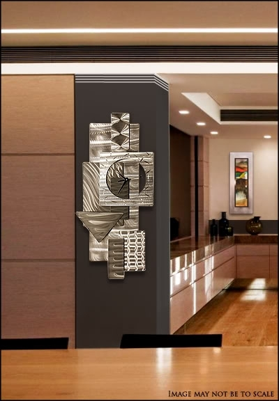 Contemporary Abstract Metal Wall Art Sculpture Silver &#034 In Abstract Metal Wall Art Sculptures (View 15 of 15)