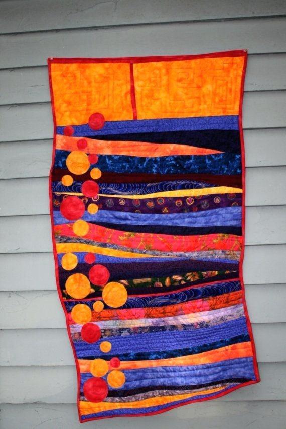 Contemporary Art Quilts Modern Fiber Art Quilt Contemporary Art For Contemporary Textile Wall Art (Image 7 of 15)