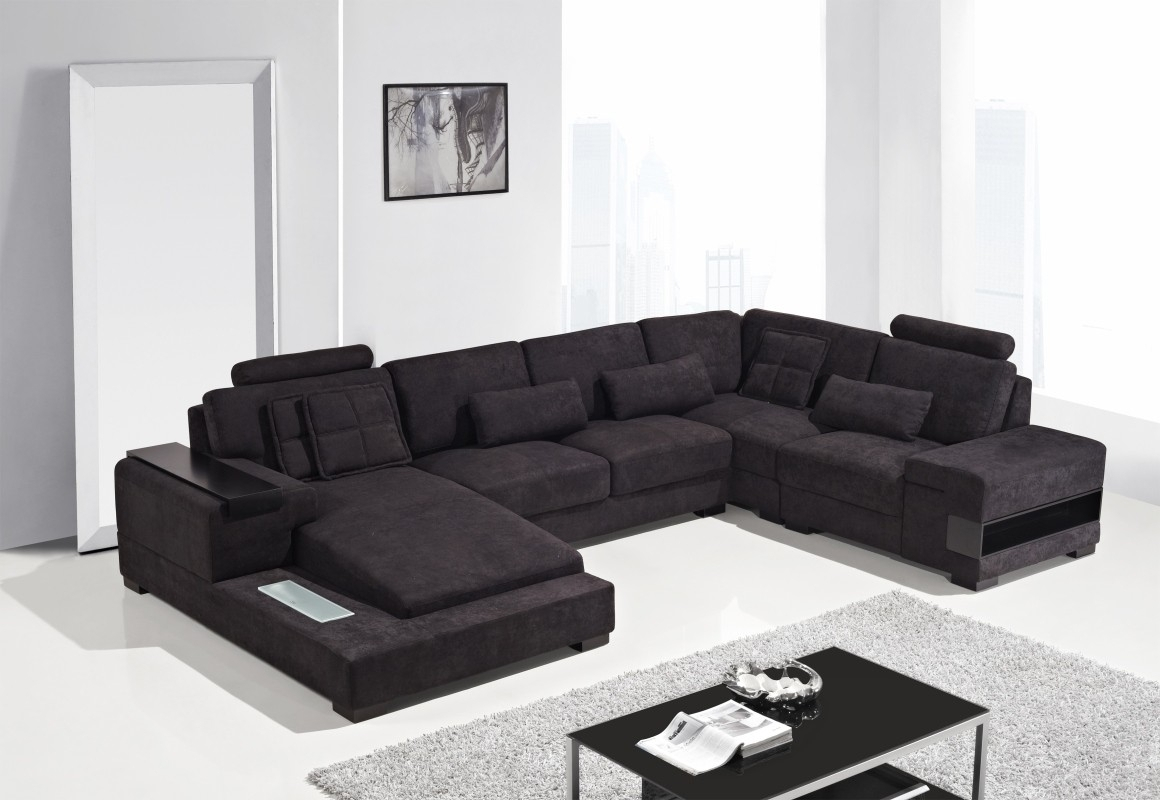 Contemporary Fabric Sofa Sectionals • Sectional Sofa Intended For Fabric Sectional Sofas (View 4 of 10)