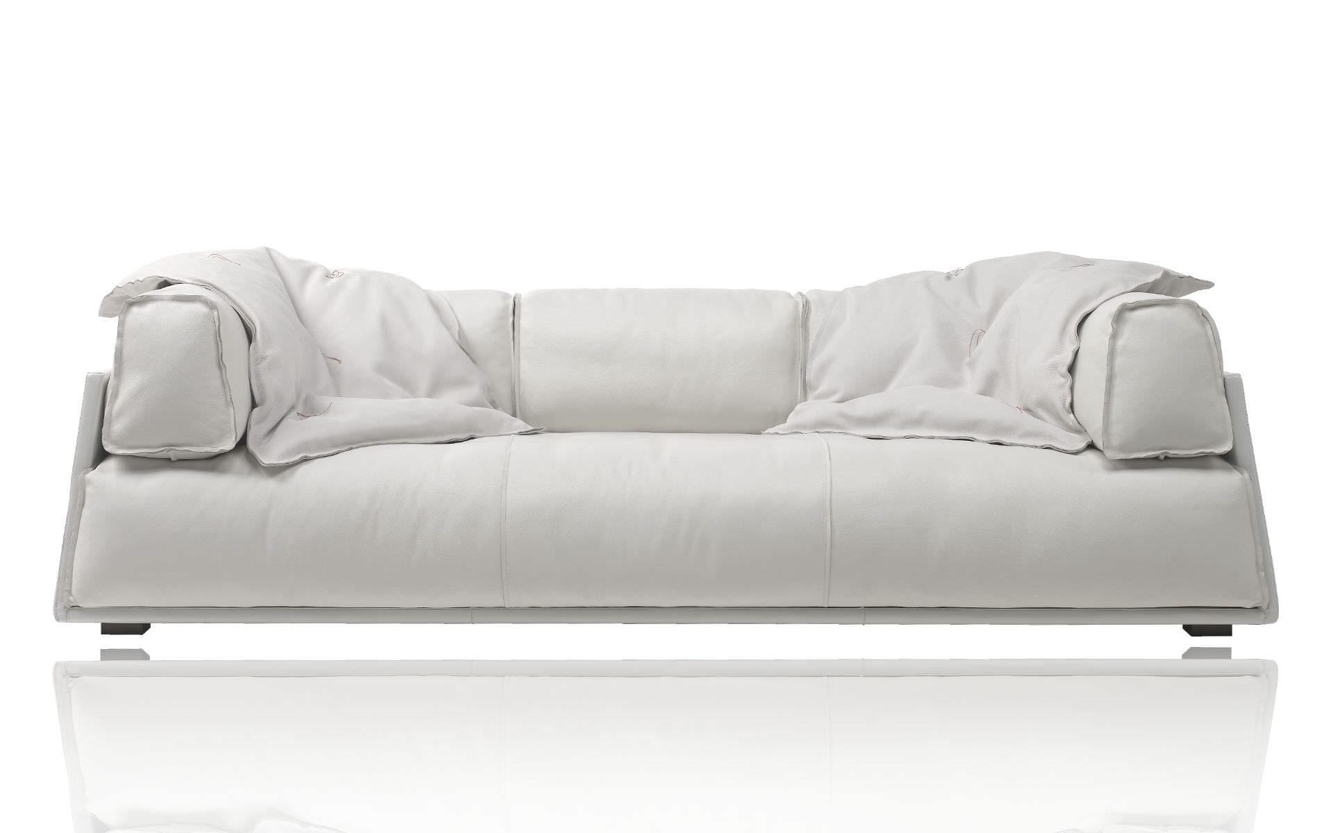 Contemporary Leather Sofa – Hard & Softpaola Navone – Baxter In Soft Sofas (Image 5 of 10)