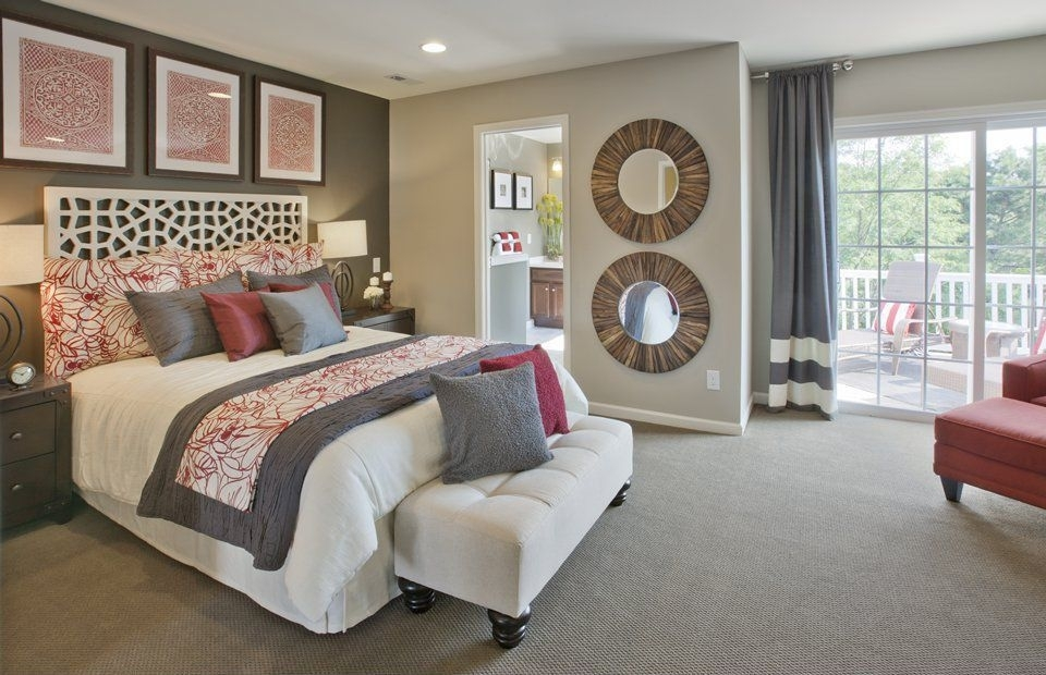 Contemporary Master Bedroom With Wall To Wall Carpet | Zillow Digs For Wall Accents For Tan Room (View 5 of 15)