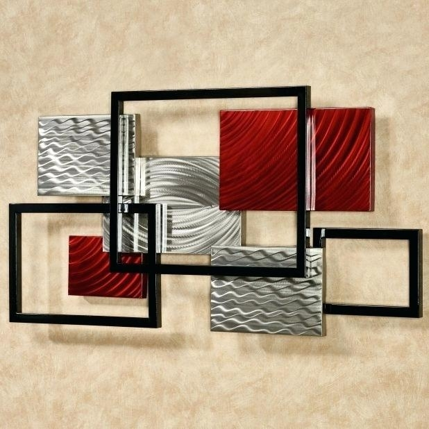 Contemporary Metal Wall Art Modern Metal Wall Art Contemporary With Regard To Geometric Modern Metal Abstract Wall Art (Image 5 of 15)
