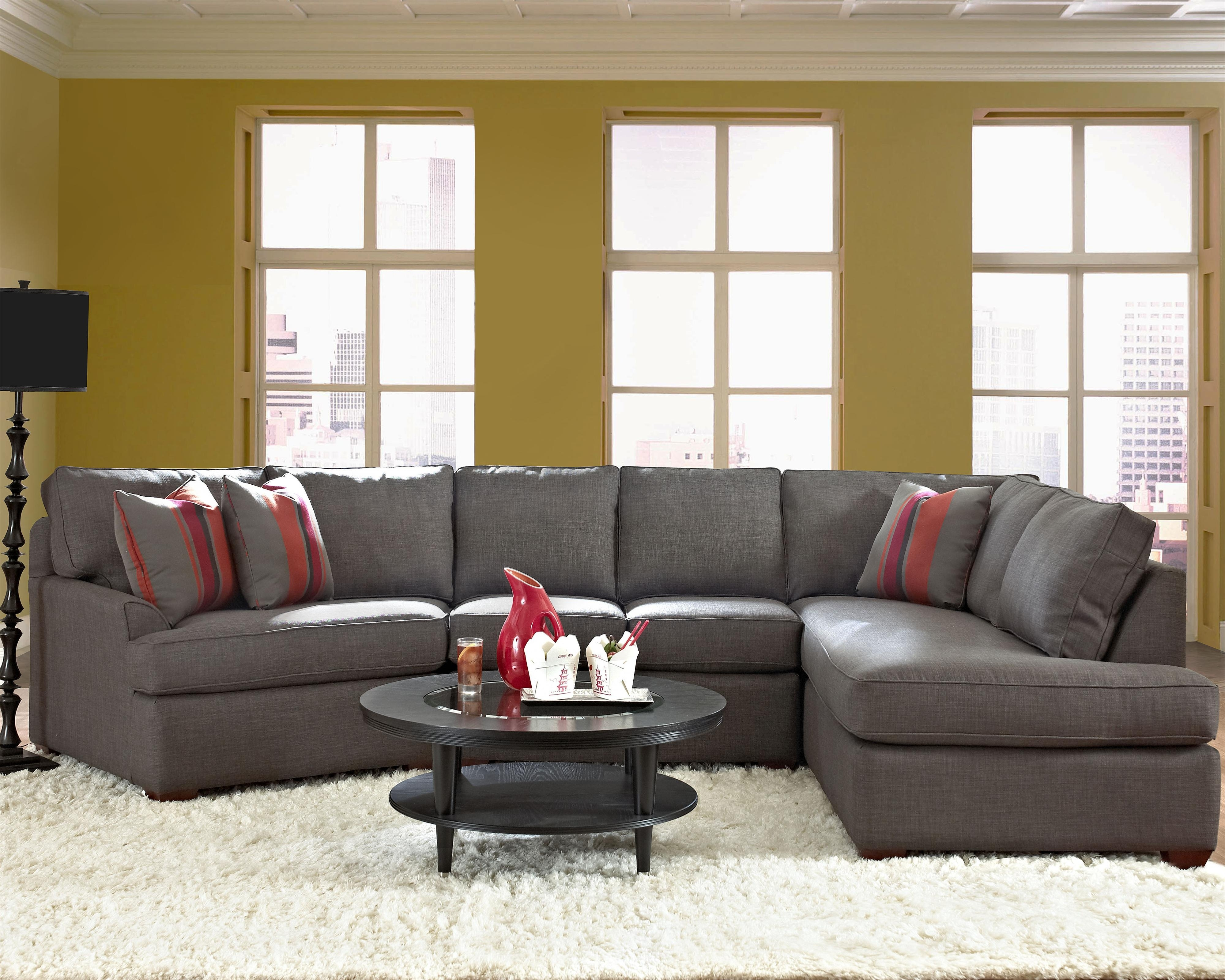 Contemporary Sectional Sofa With Right Chaiseklaussner | Wolf Throughout Harrisburg Pa Sectional Sofas (View 3 of 10)