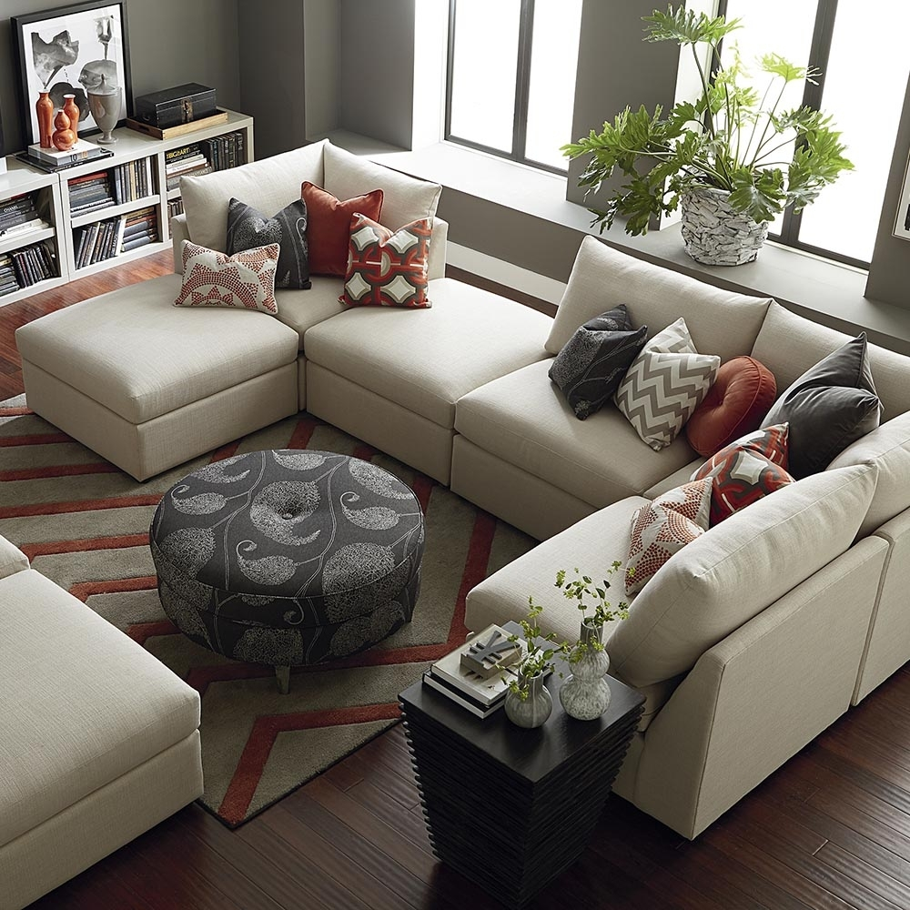 Contemporary U Shaped Sectional | Bassett Home Furnishings With Modern U Shaped Sectionals (Image 1 of 10)