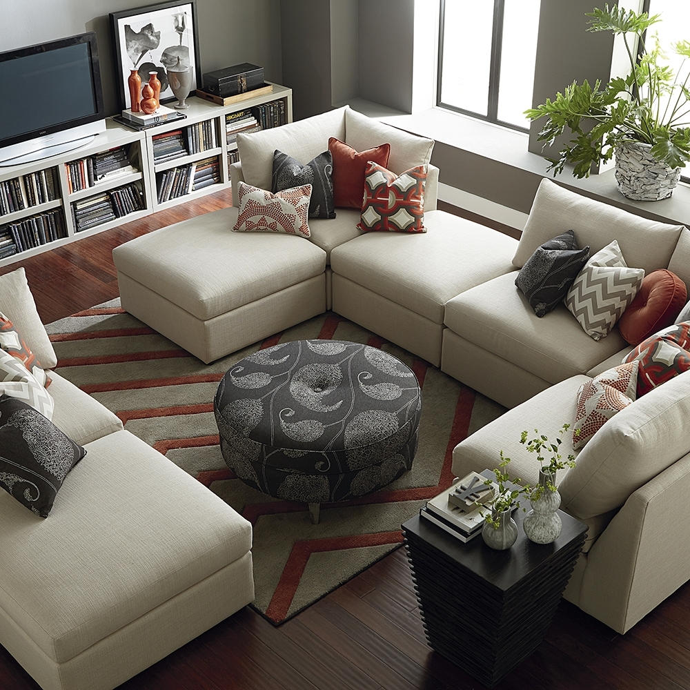 Contemporary U Shaped Sectional | Bassett Home Furnishings With U Shaped Sectionals (Image 5 of 10)