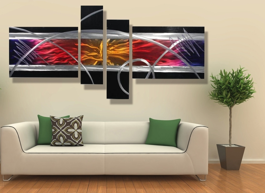 Contemporary Wall Art Decor Designs In Plans 2 – Hottamalesrest Inside Inexpensive Abstract Metal Wall Art (Image 2 of 15)