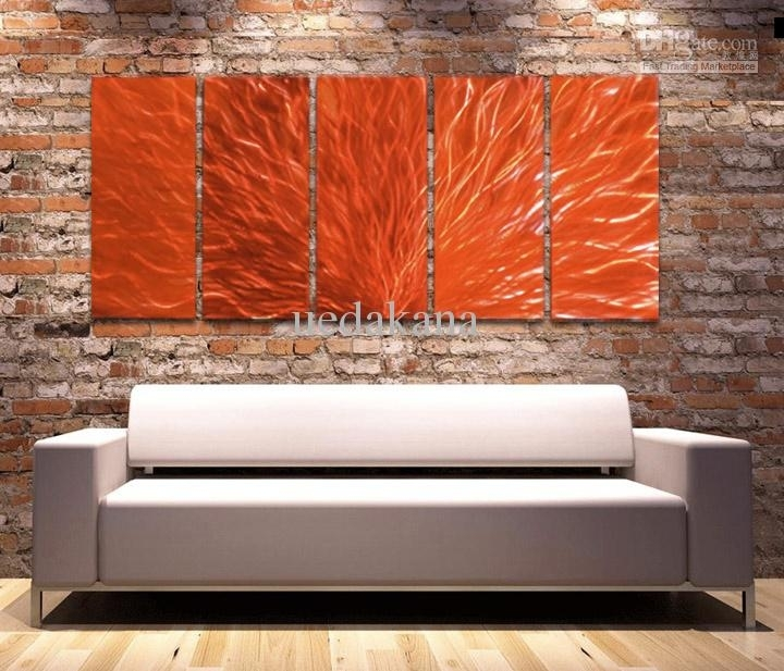 Contemporary Wall Decor Metal Decorating Ideas With Regard To The In Abstract Orange Wall Art (View 6 of 15)