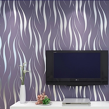 Contemporary Wallpaper Art Deco 3D Simple Modern Wallpaper Wall With Regard To Art Deco Wall Fabric (Image 7 of 15)