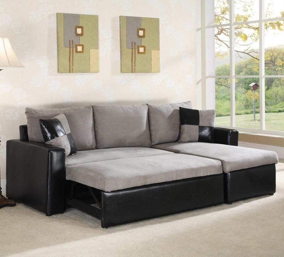 Convertible Sofa : Amusing L Shaped Sectional Sleeper Sofa In Best Inside L Shaped Sectional Sleeper Sofas (Image 1 of 10)