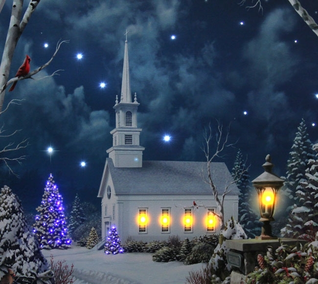 Cool 60+ Lighted Canvas Wall Art Design Ideas Of Church In Winter With Lighted Canvas Wall Art (Image 5 of 15)