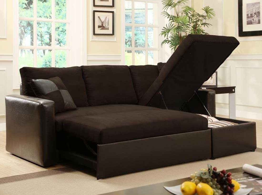 Cool Great Black Sectional Sleeper Sofa 98 For Small Home Decor Regarding Adjustable Sectional Sofas With Queen Bed (Image 2 of 10)
