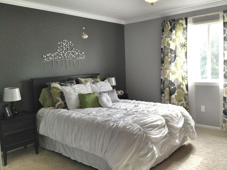 Cool Grey Bedroom | Incredible Grey Walls Bedroom Design | Grey With Grey And White Wall Accents (View 3 of 15)